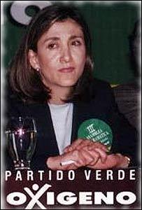 Ingrid Betancourt cuando era candidata a la presidencia.