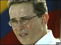 Presidente de Colombia, Álvaro Uribe.