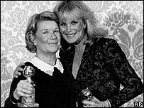 Barbara Bel Geddes and Linda Evans