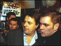 BNP leader Nick Griffin (centre)