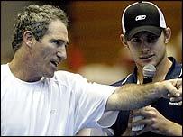 Brad Gilbert and Andy Roddick