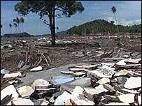 Scene of devastation in Aceh
