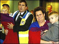 Tsunami survivors at Gatwick airport