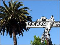 Street sign in Beverley Hills, Los Angeles