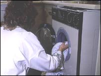Image of doing the washing