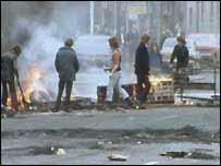 A loyalist roadblock
