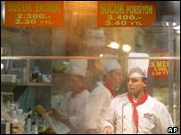 Chefs in an Istanbul restaurant