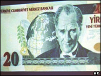 New Turkish 20 lira note