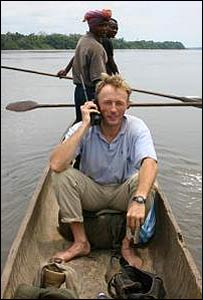 Reporter Tim Butcher on the Congo river