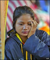 Thai woman at a shelter for displaced people