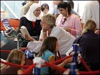 Passengers at Heathrow's Terminal 4
