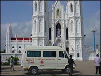 Church in Velanganni, Tamil Nadu, India