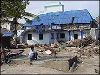 Devastation in Velanganni, Tamil Nadu, India