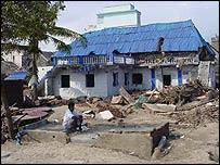 Devastation in Velanganni, Tamil Nadu, India