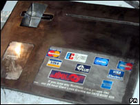 False fascia of cash machine
