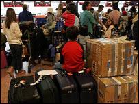 Passengers at Heathrow's Terminal Four