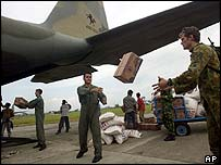Arrival of aid at Banda Aceh airport
