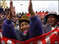Protestas en La Paz en abril de 2004