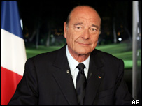 French President, Jacques Chirac