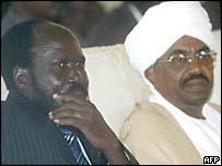 Salva Kiir and Sudanese President Omar al-Bashir