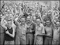POWs on VJ Day (Imperial War Museum)