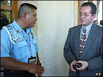 Police chief Omar Pimentel