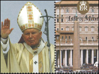 Papal stamps Isle of Man