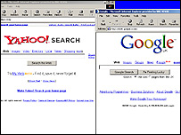 Yahoo Search and Google