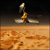 An artist's impression of the probe, Nasa