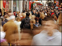 Shoppers on London's Oxford Street