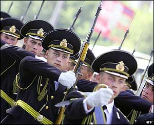 Russian honour guard in Moscow