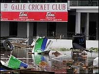 The Test ground at Galle was badly damaged