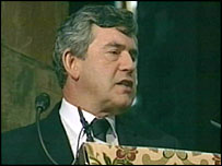 Gordon Brown pays tribute to Robin Cook