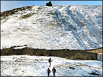 Snow in North Yorkshire on Sunday - PA/John Giles