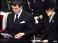 Danish Crown Prince Frederik and his wife Crown Princess Mary at a tsunami memorial service