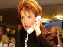 Breakfast's Natasha Kaplinsky taking donations calls at London's BT Tower to boost vital funds for The Disasters Emergency Committee appeal