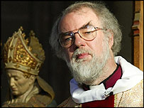 Dr Rowan Williams, the Archbishop of Canterbury
