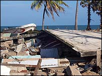 Tsunami destruction in Mullaitivu