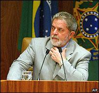 Luiz Inácio Lula da Silva, presidente de  Brasil