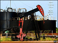 Oil pump in Lagunillas at the west coast of Lake Maracaibo