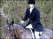 Prince William at the hunt