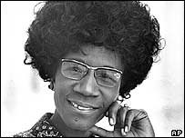Shirley Chisholm. Archive picture