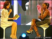 Davina McCall and Makosi Musambasi