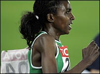 Tirunesh Dibaba on her way to 10,000m world gold