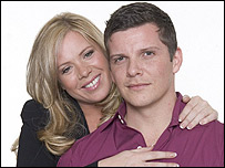 Letitia Dean and Nigel Harman