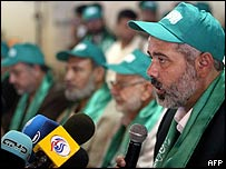 Ismail Haniya, a leader of the radical Islamic Hamas movement