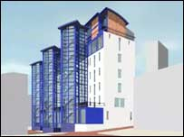 Artist's impression of new luxury flats
