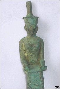 A stolen Egyptian statue