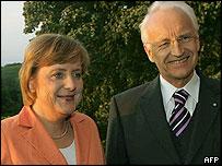 Angela Merkel and Edmund Stoiber