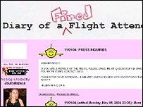 Imagen del weblog de una azafata.